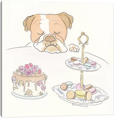 Franklin Bulldog's Sweet Tooth Canvas Art Print
