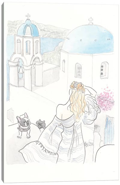 Miss Olive's Afternoon In Greece Canvas Art Print
