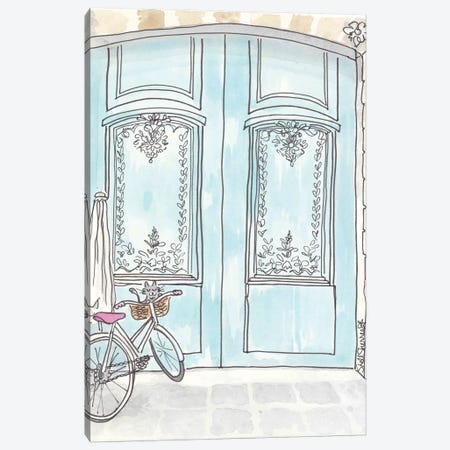 Kitty Adores Doors Canvas Print #SSH24} by Shell Sherree Canvas Print