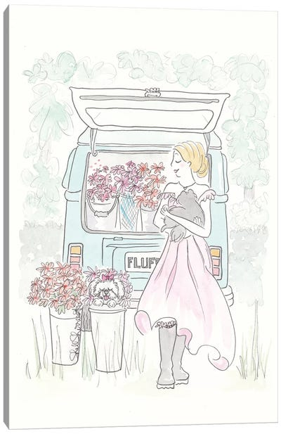 Kombi Flower Power Canvas Art Print