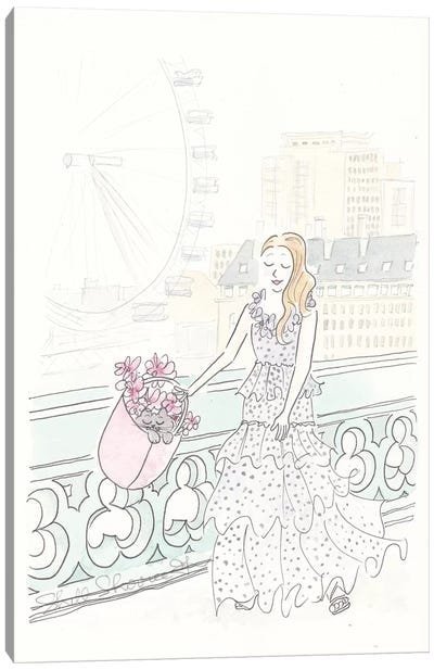 Ruffles Spotted In London Toting Kitty Canvas Art Print