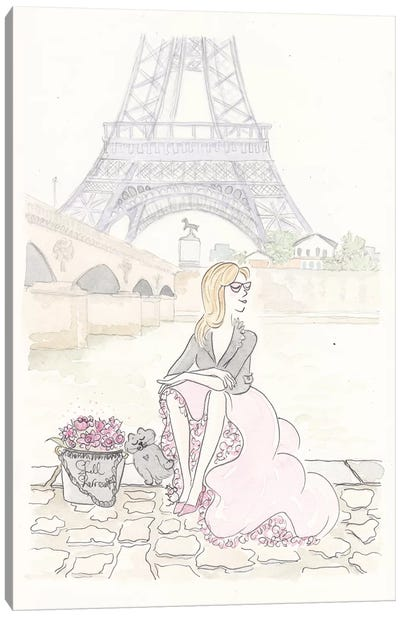 Paris On Bank Canvas Art Print