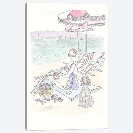 Beach Waves Babes Canvas Print #SSH3} by Shell Sherree Canvas Print