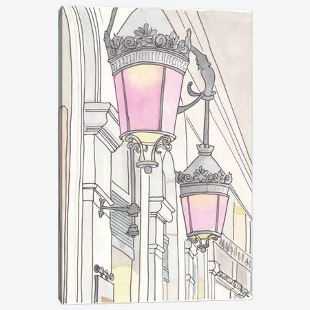 Paris Rose Lanterns 3-Piece Canvas #SSH41} by Shell Sherree Canvas Art