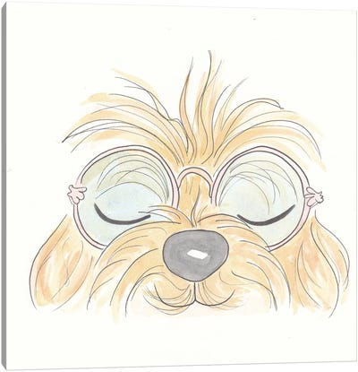 Peekaboo Woof You Canvas Art Print