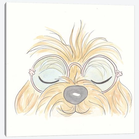 Peekaboo Woof You Canvas Print #SSH43} by Shell Sherree Canvas Artwork