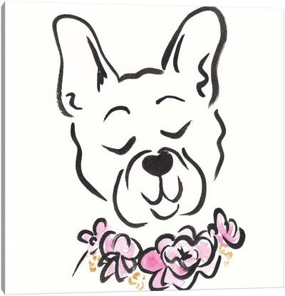 French Bulldog Bentley Petal Pie Canvas Art Print