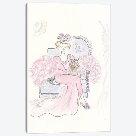 Pink Boudoir Canvas Print #SSH53} by Shell Sherree Canvas Art Print
