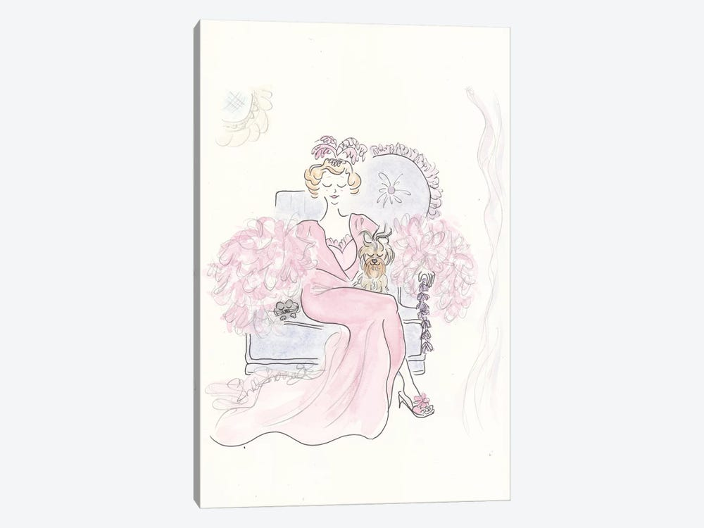 Pink Boudoir by Shell Sherree 1-piece Canvas Print