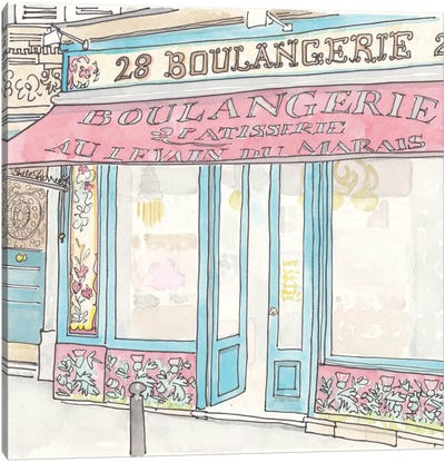 Boulangerie Au Levain Paris Canvas Art Print