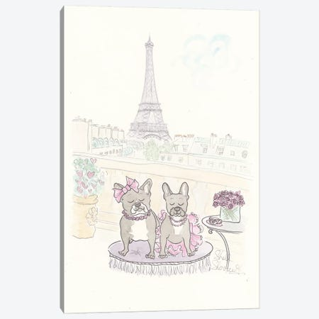 Rue And Cosette's Tea In Paris Canvas Print #SSH60} by Shell Sherree Canvas Wall Art