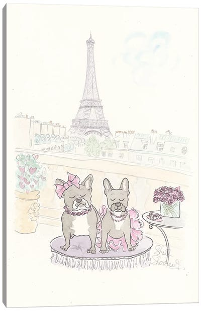 Rue And Cosette's Tea In Paris Canvas Art Print
