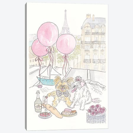 Sherlock Tinkerbell Honeymoon Paris Canvas Print #SSH64} by Shell Sherree Art Print