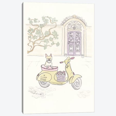 Sweet Spock Scooter Adventure Canvas Print #SSH69} by Shell Sherree Canvas Art