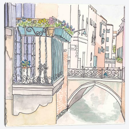 Venetia Micio Canvas Print #SSH70} by Shell Sherree Canvas Art Print