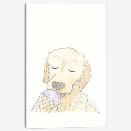 Labrador Loves Lavender Ice Cream Canvas Print #SSH88} by Shell Sherree Canvas Art