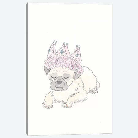 Party Pug Canvas Print #SSH90} by Shell Sherree Canvas Print