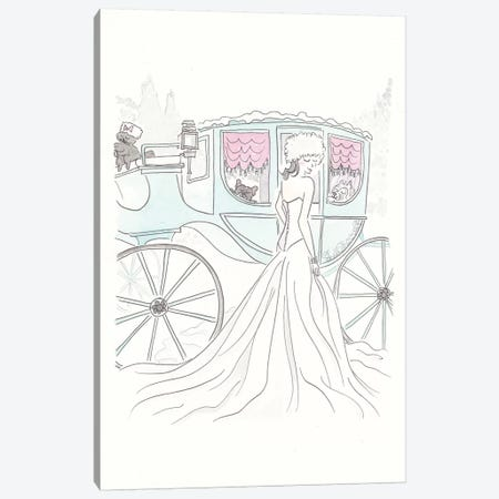 Snow Queen Aqua Carriage Canvas Print #SSH93} by Shell Sherree Art Print