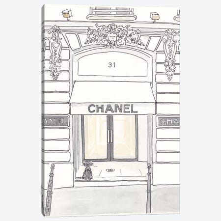 Chanel Rue Cambon Paris Canvas Print #SSH9} by Shell Sherree Art Print