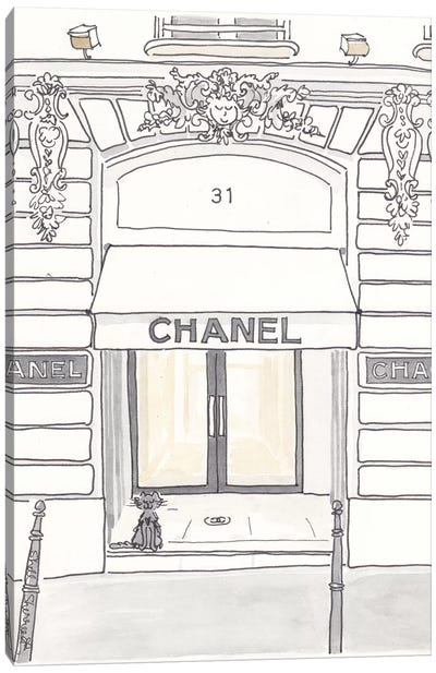 Chanel Rue Cambon Paris Canvas Art Print