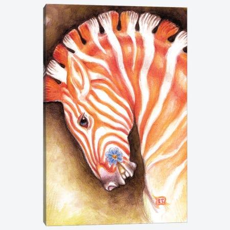 Carousel Zebra Horse Watercolor Art Canvas Print #SSI15} by Seven Sirens Studios Canvas Print