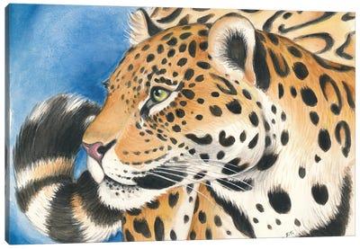Jaguar On The Prowl Watercolor Canvas Art Print