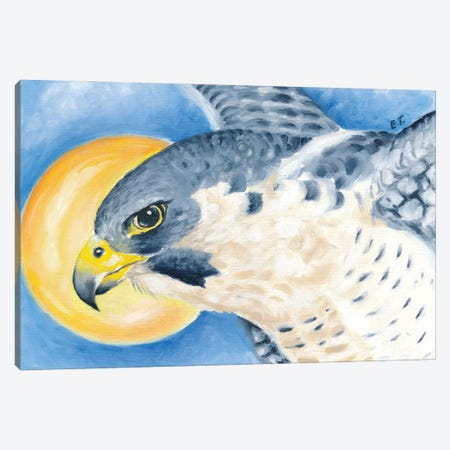 Peregrine Falcon Sun Sky Canvas Print #SSI28} by Seven Sirens Studios Art Print
