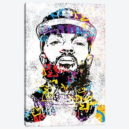 Nipsey Canvas Print #SSK10} by Streetsky Canvas Art