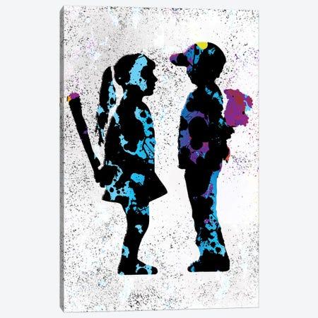 Boy & Girl Canvas Print #SSK17} by Streetsky Art Print