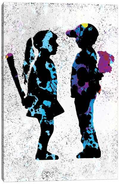 Boy & Girl Canvas Art Print