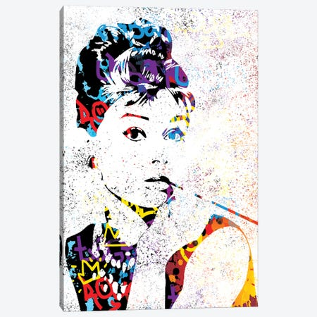 Audrey Canvas Print #SSK4} by Streetsky Art Print