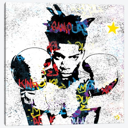 Basquiat 3-Piece Canvas #SSK5} by Streetsky Canvas Print