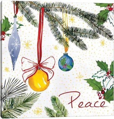 Watercolor Christmas III Canvas Art Print