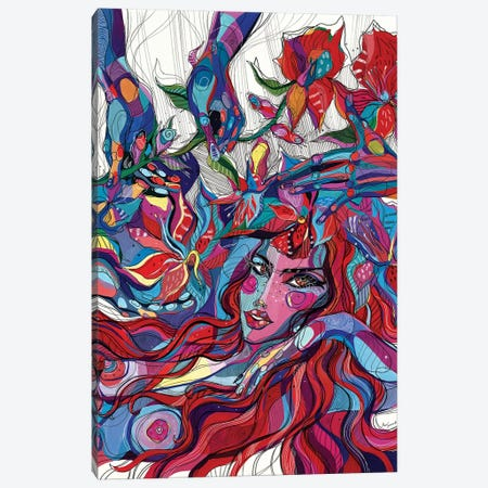 Japanese Girl Canvas Print #SSR100} by Maria Susarenko Art Print