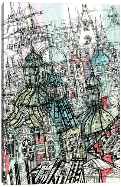 Prague Roofs Canvas Art Print