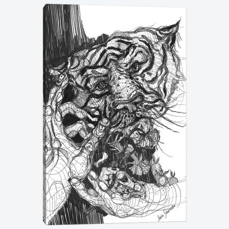 Tiger Drawing And Graphics Canvas Print #SSR108} by Maria Susarenko Art Print