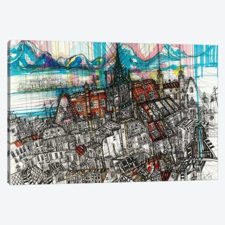 Geneve Cityscape Canvas Print #SSR109} by Maria Susarenko Canvas Print
