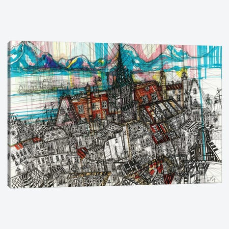 Geneve Cityscape Canvas Print #SSR109} by Maria Susarenko Canvas Print