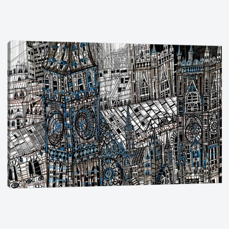 Big Ben 3-Piece Canvas #SSR10} by Maria Susarenko Canvas Print