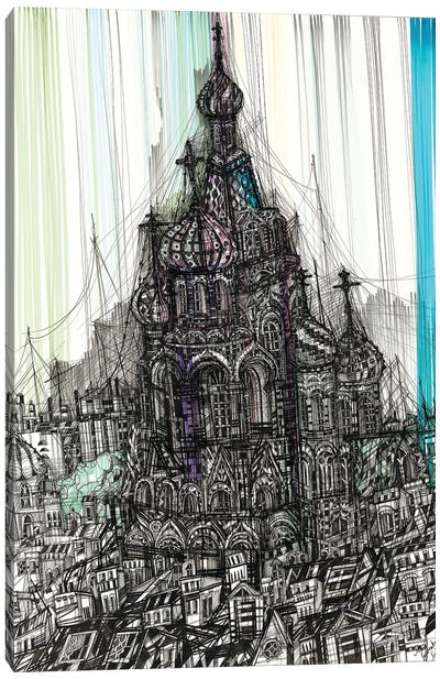 Church Of The Savior On Blood Canvas Art Print