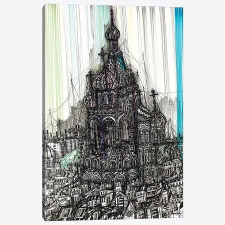 Church Of The Savior On Blood Canvas Print #SSR111} by Maria Susarenko Canvas Artwork