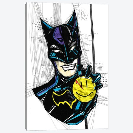 Angry Batman Canvas Print #SSR113} by Maria Susarenko Canvas Artwork