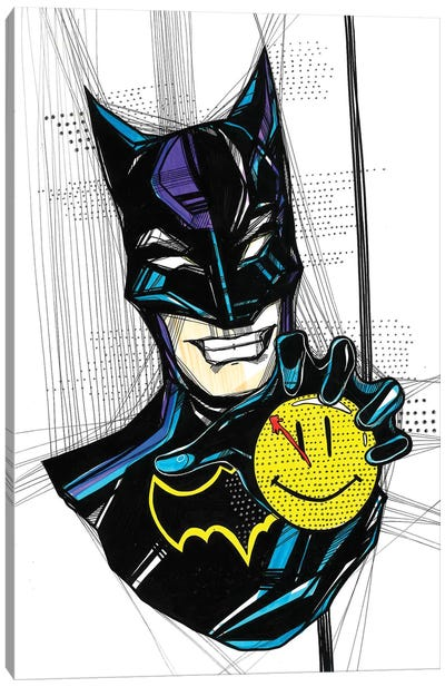 Angry Batman Canvas Art Print