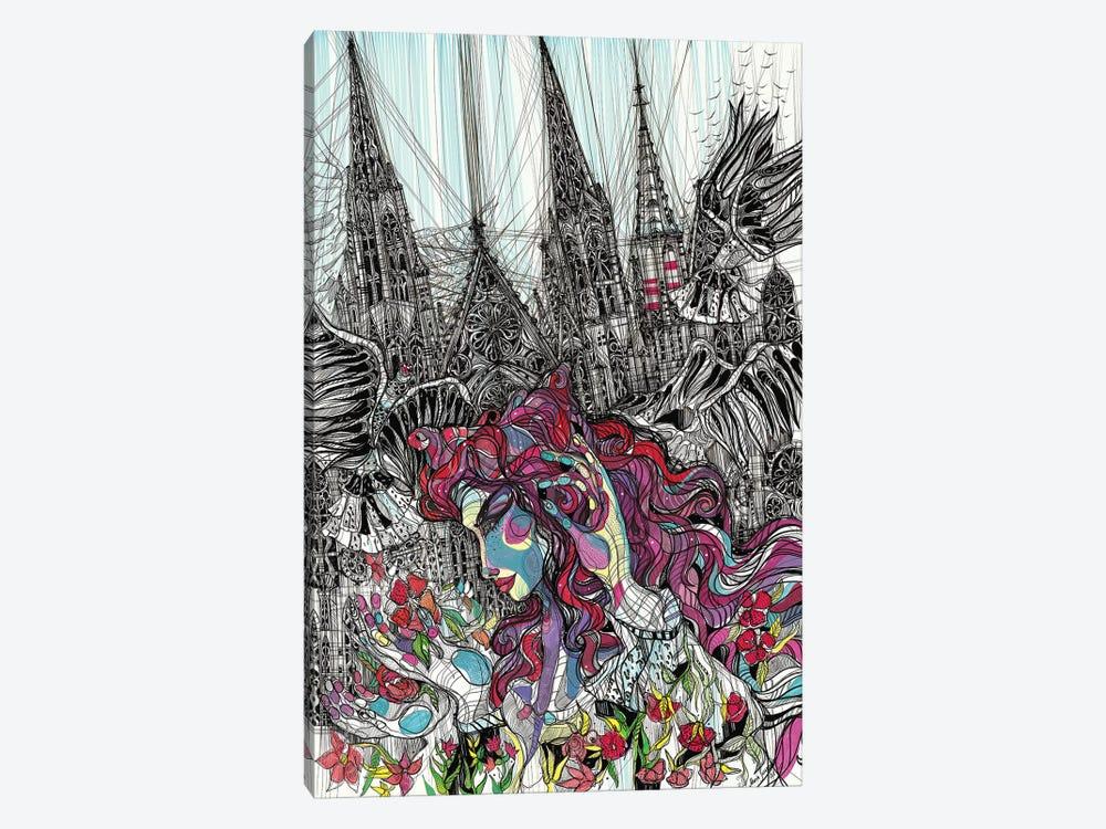 Gothic Flower by Maria Susarenko 1-piece Canvas Print