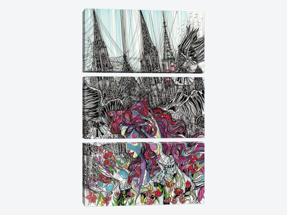 Gothic Flower by Maria Susarenko 3-piece Canvas Print