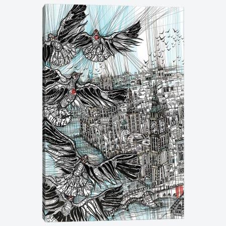 Big Ben Smooth Lines Canvas Print #SSR11} by Maria Susarenko Canvas Print