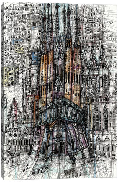 Sagrada Familia Canvas Art Print