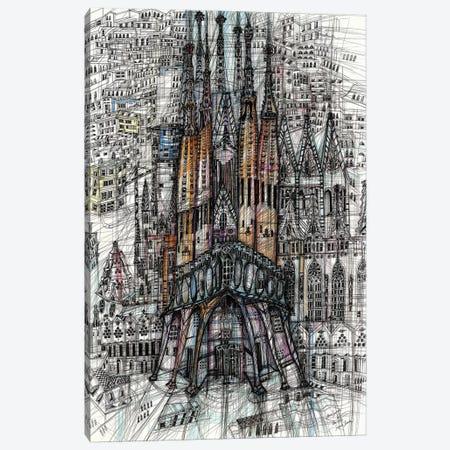 Sagrada Familia Canvas Print #SSR122} by Maria Susarenko Canvas Print