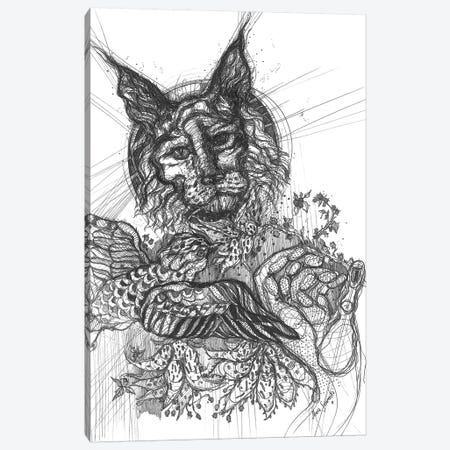 Graphic Flowers Canvas Print #SSR127} by Maria Susarenko Canvas Artwork