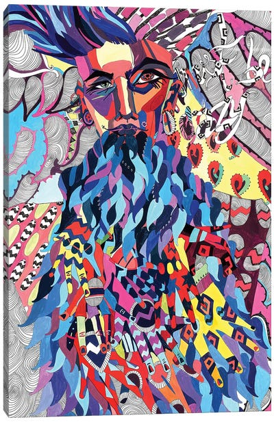 Black Jesus Canvas Art Print